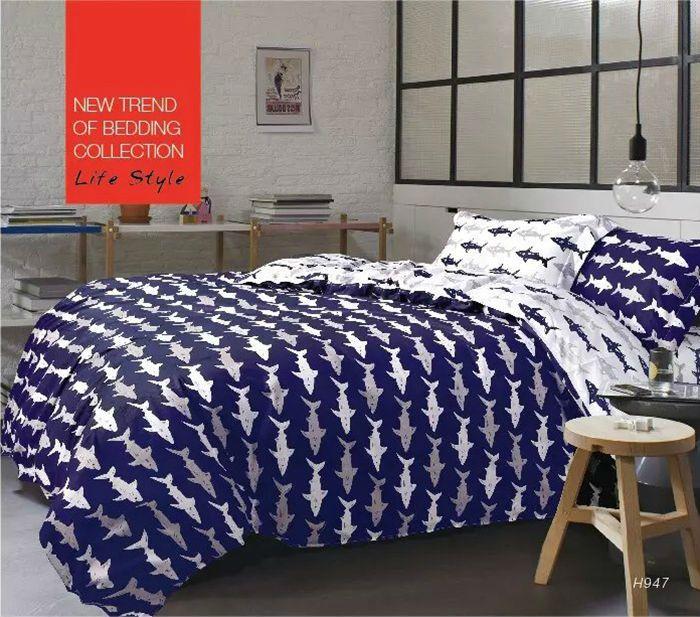 shark vivid printing bedding sets queen size4pc duvet cover set5pcs comforter sets - Queen Size Duvet Cover