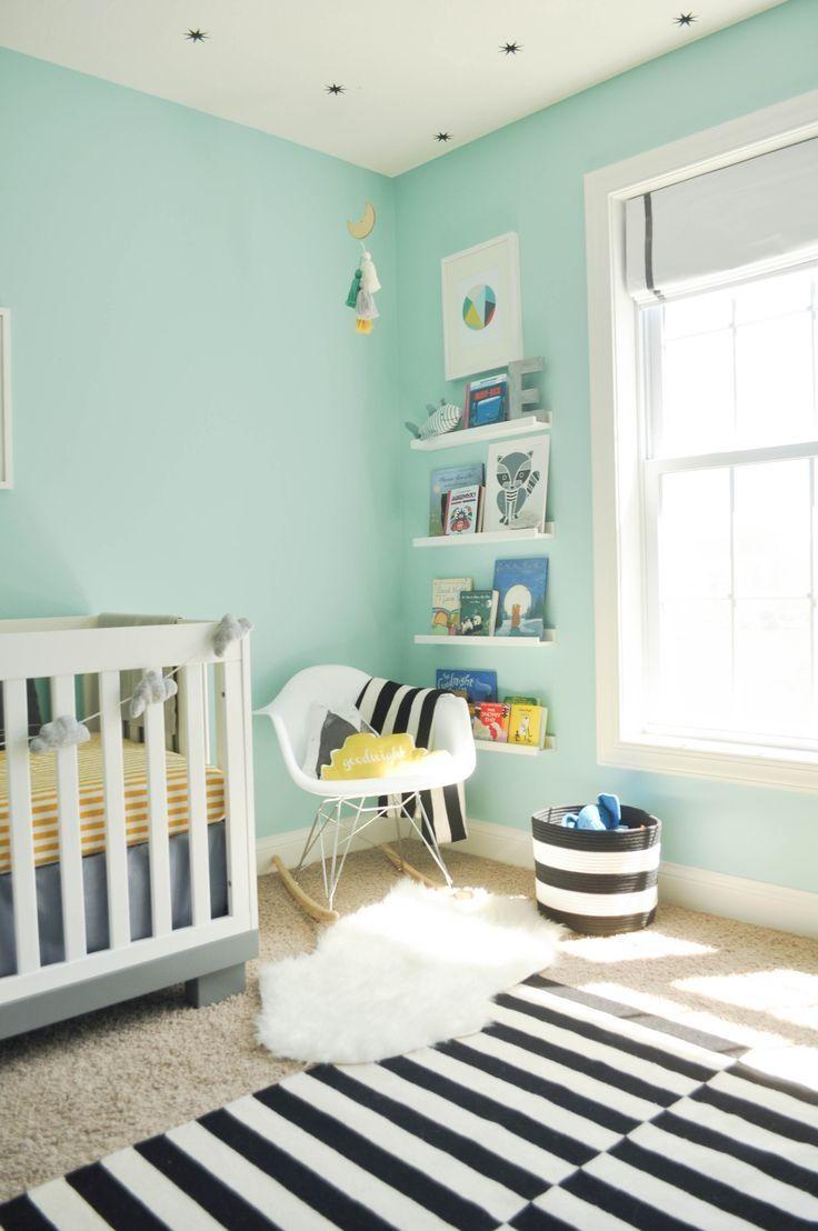 Une chambre bébé couleur mint  Chambre bébé couleur, Deco chambre