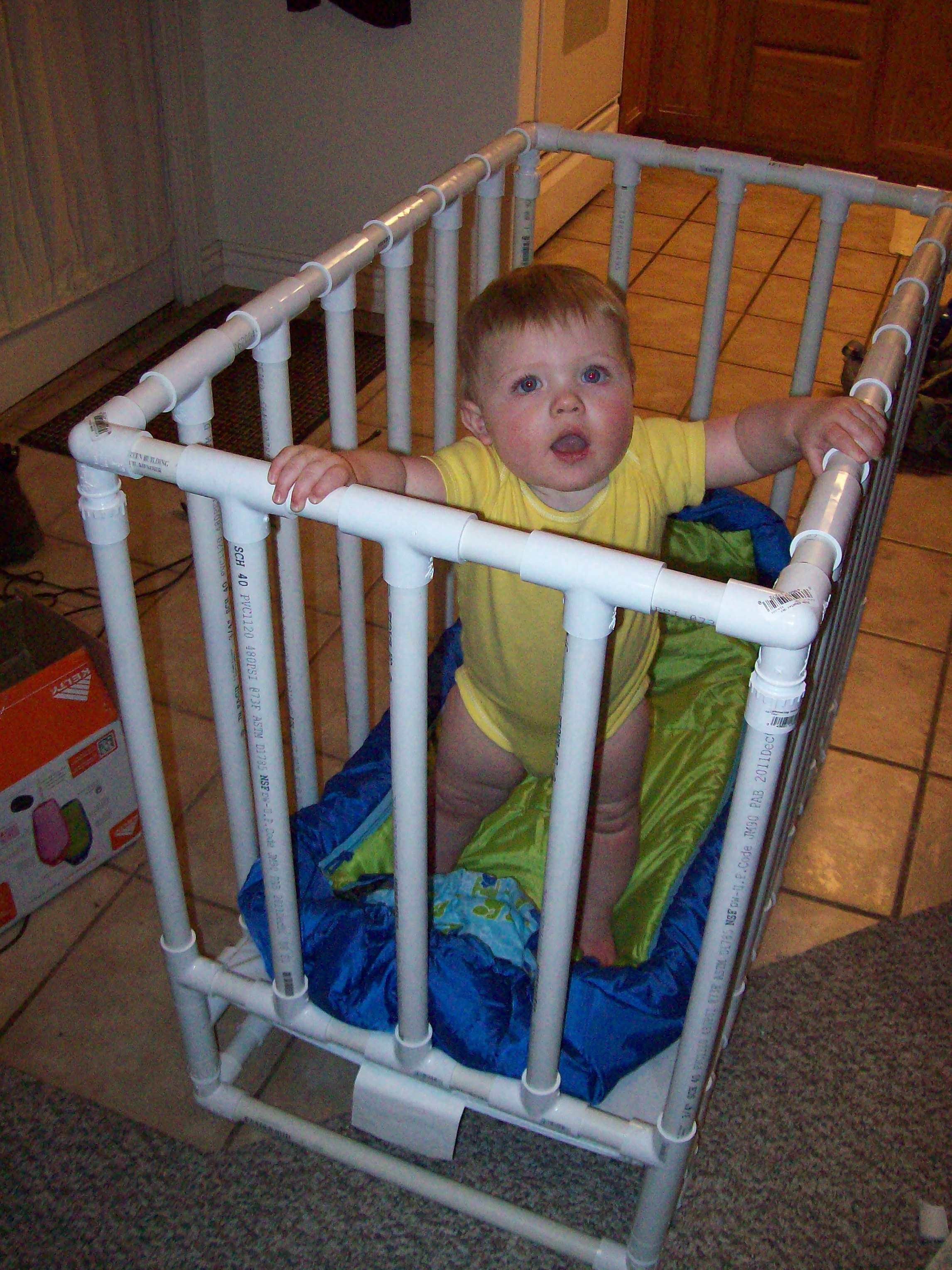 Baby bed camping - Pvc Pipe Crib For Camping
