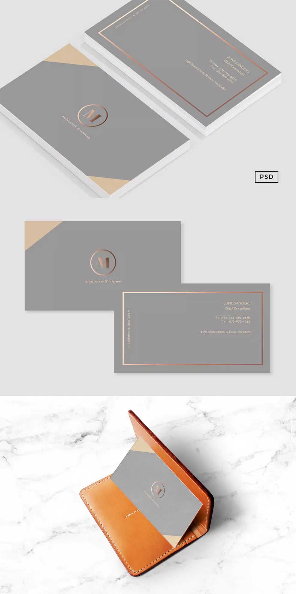 Formal Business Card Template PSD | Business Card Templates ...