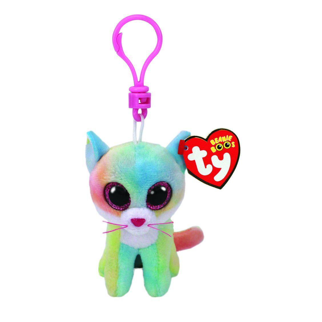 5de2a25bc44 Ty Beanie Boo Fluffy the Cat Keyring Clip