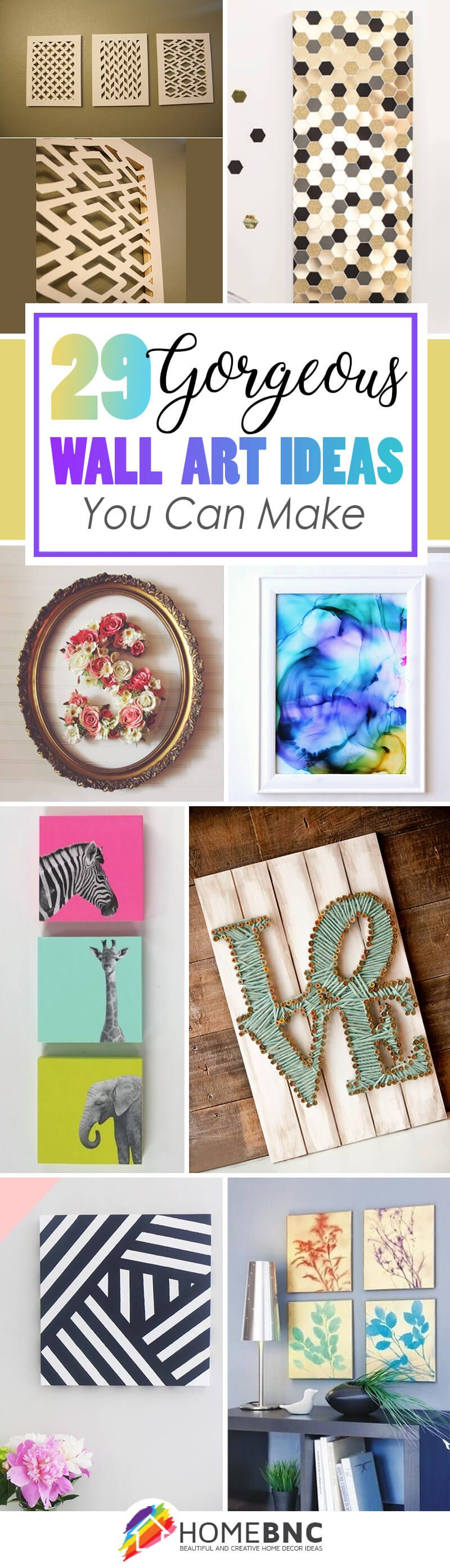 easy diy wall art ideas to make your home more stylish diy wall