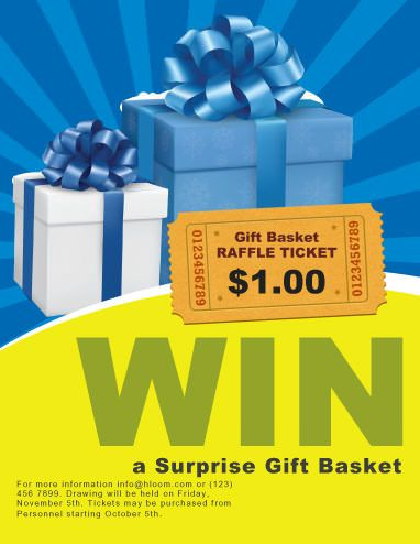 Surprize Gift Raffle Flyer Template | Fundraiser | Pinterest
