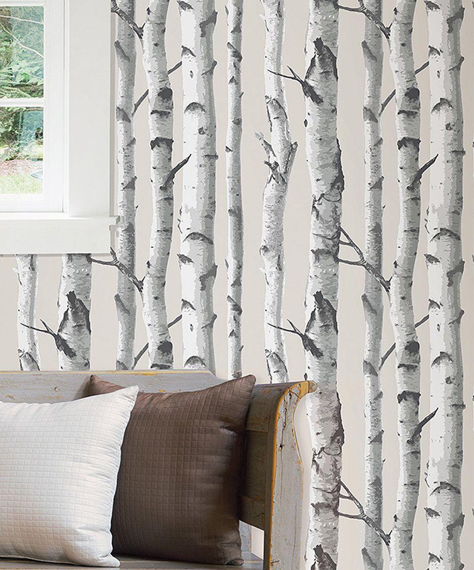 Look At This Zulilyfind Birch Tree Peel Stick Wallpaper By