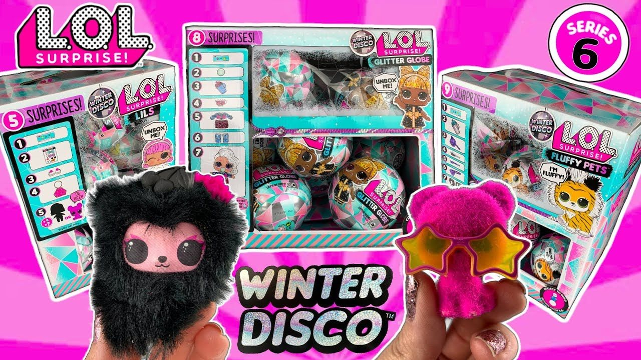 LOL SURPRISE WINTER DISCO!! LOL Series 6 Unboxing! Glitter