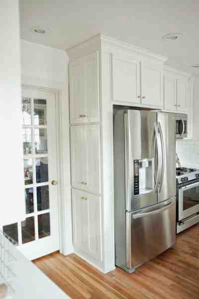 Ingenious Spice Cabinet Next To The Fridge! From The Natos: Kitchen  Renovation Before And After