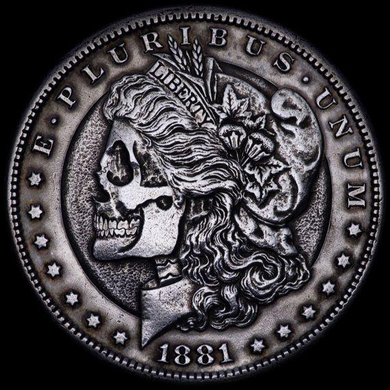 Pin by Melissa Smith on skulls skulls skulls | Morgan silver