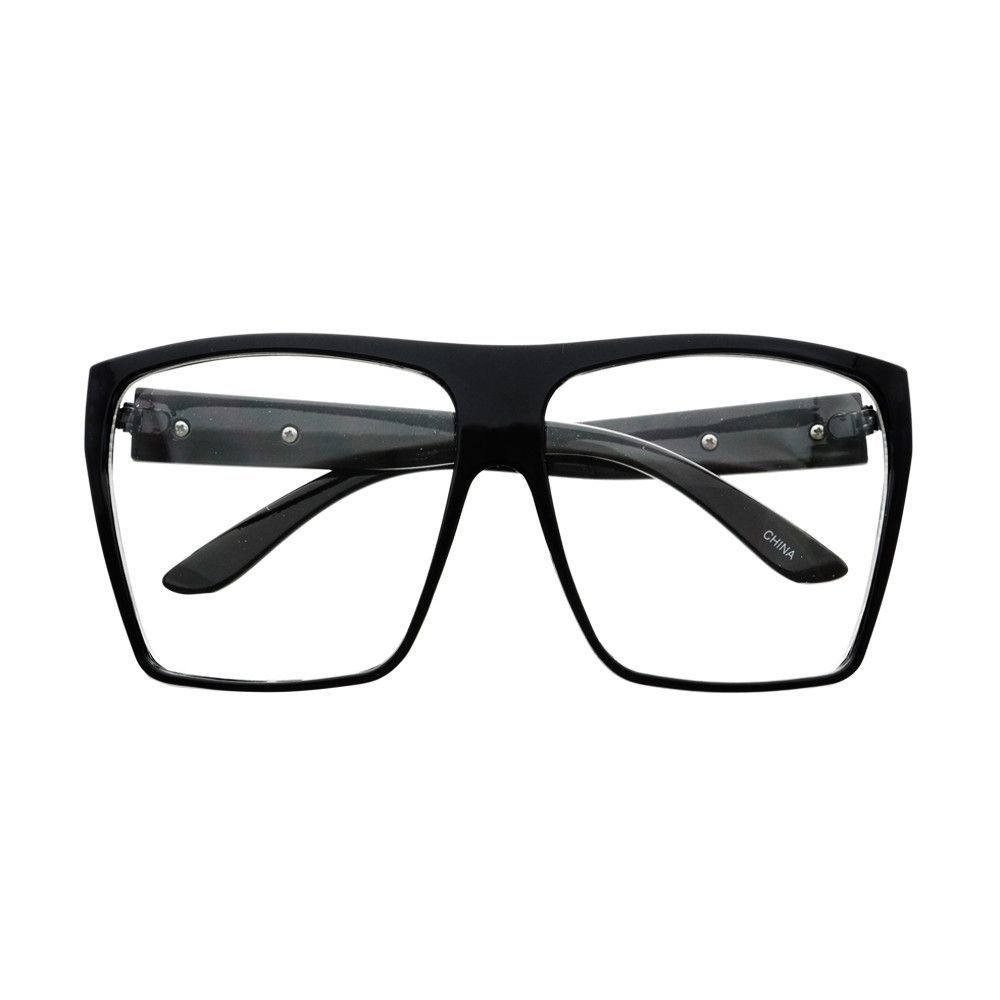 LARGE SQUARE FLAT TOP GLASSES FRAMES BLACK FT311 | W I S H L I S T ...