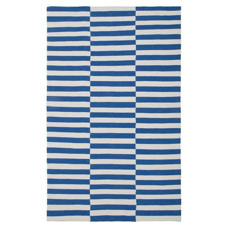 Hand-woven New Zealand wool rug with a striped motif.  Product: RugConstruction Material: New Zealand wool