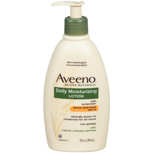Aveeno Active Naturals Daily Moisturizing Lotion with SPF 15, 12 Ounce