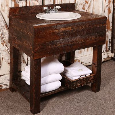 Utah Mountain Single Rough Hewn Bathroom Vanity Set Products - Bathroom vanities utah