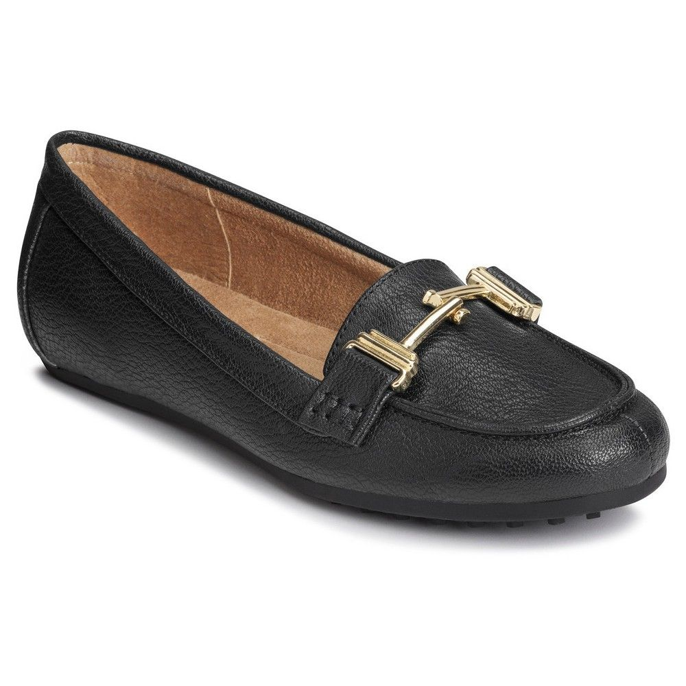 3013a5decd4 Women s A2 by Aerosoles Test Drive Loafers - Black 7