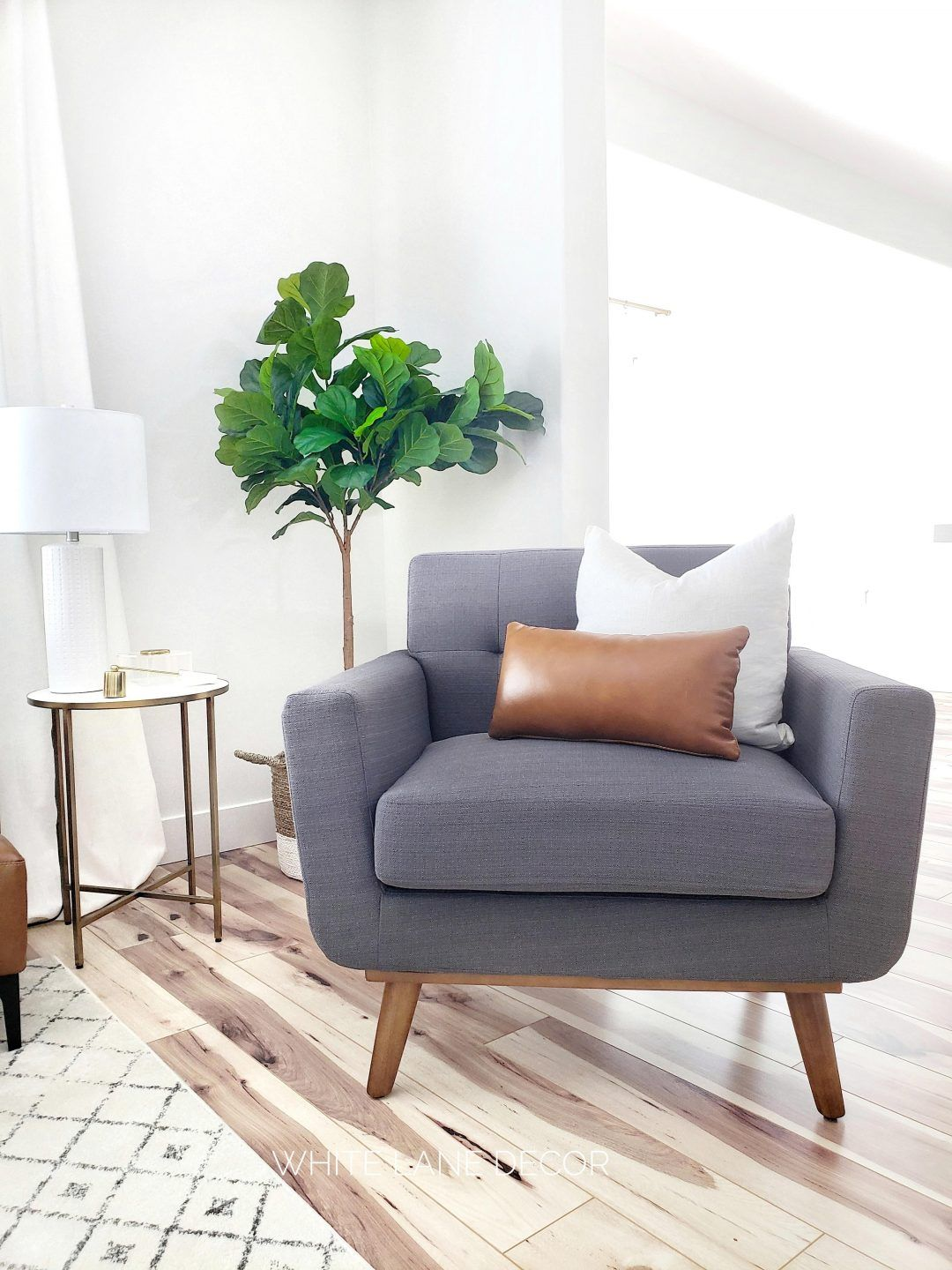 Simple Sitting Area White Lane Decor Living Room Chairs Small