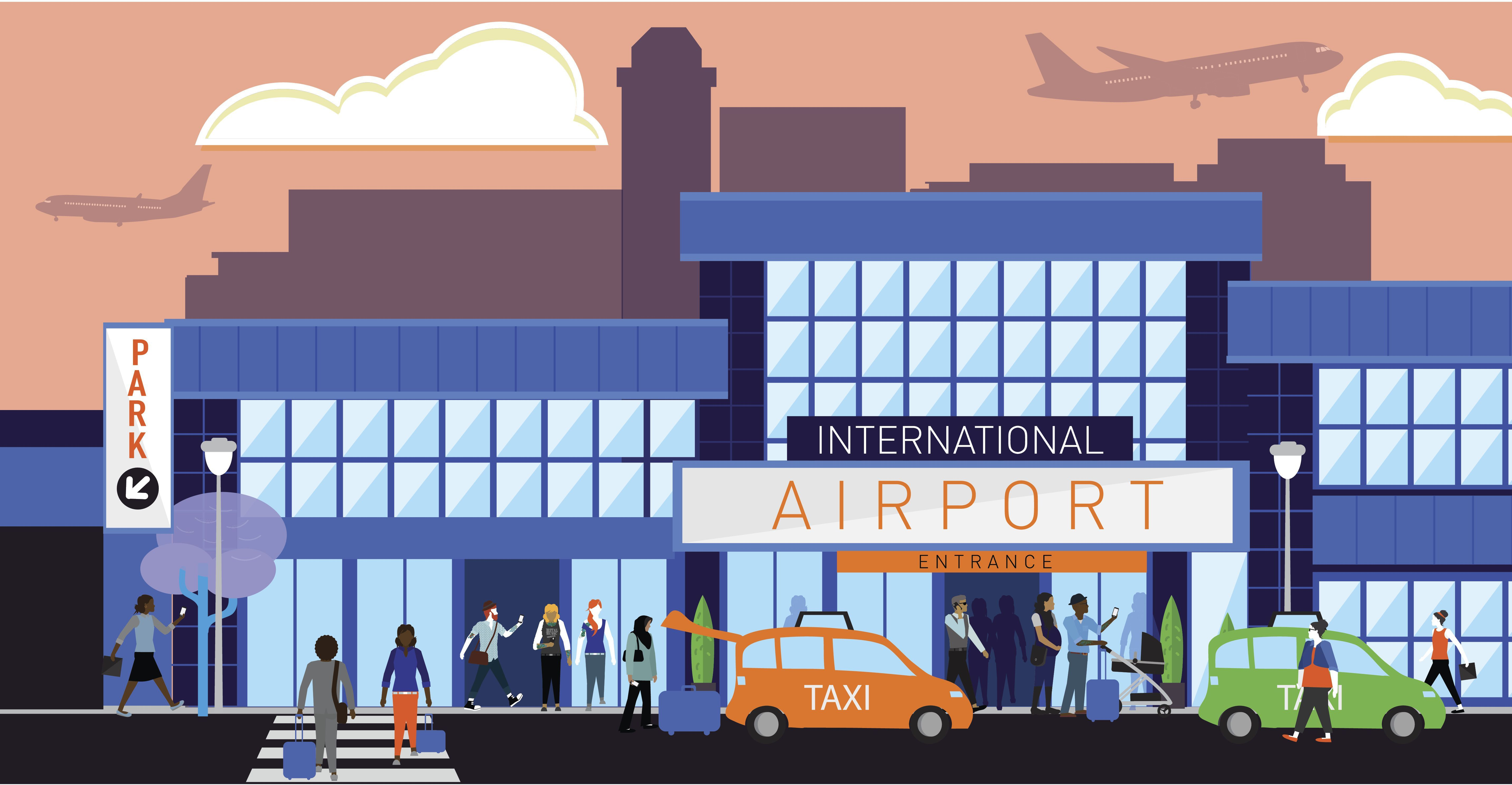 At The Airport A Dialogue And Quiz For Beginner English