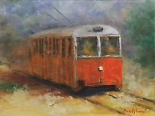 Original signed oil painting by Bob Bradshaw Downtown...