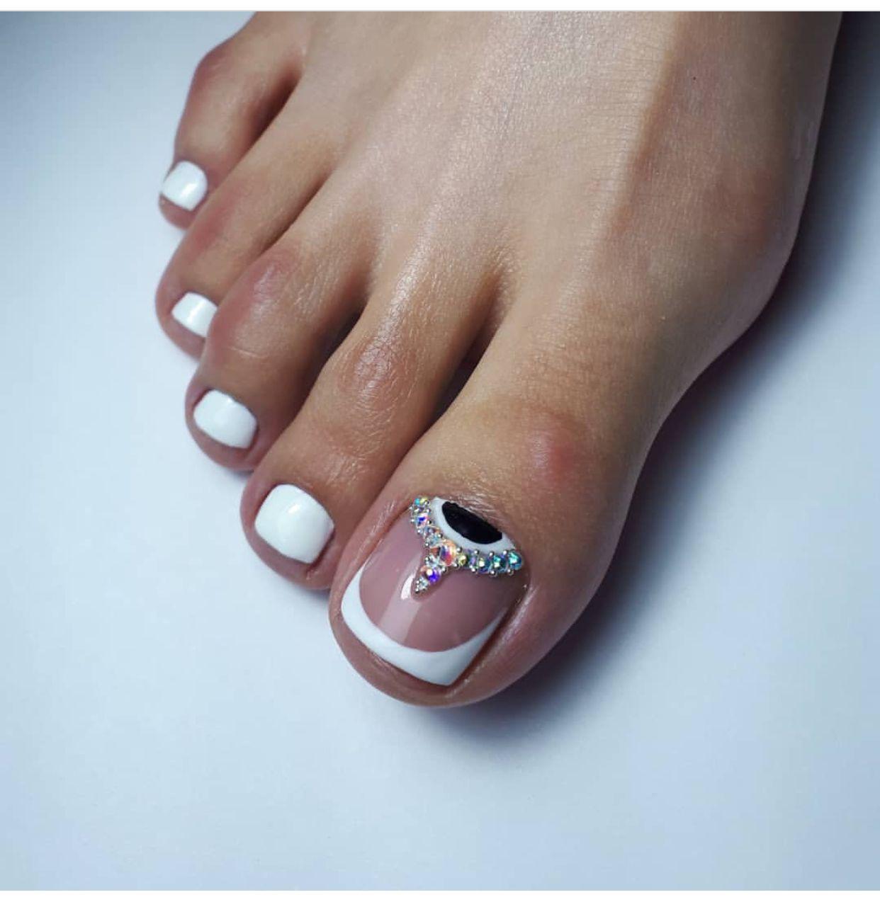 Pin Guadalupe Cruz Toe Nails In 2019 U Decoradas Pies Diseos Para