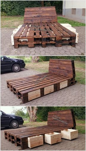 Marvelous Recycling Ideas with Used Shipping Pallets Wood pallet - camas con tarimas