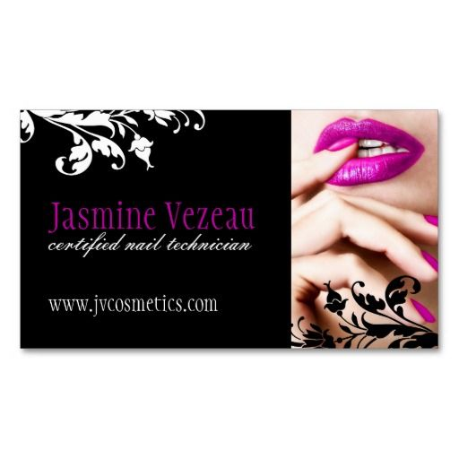 Image For Nails Business Cards Design Silvia Barajas Pinterest