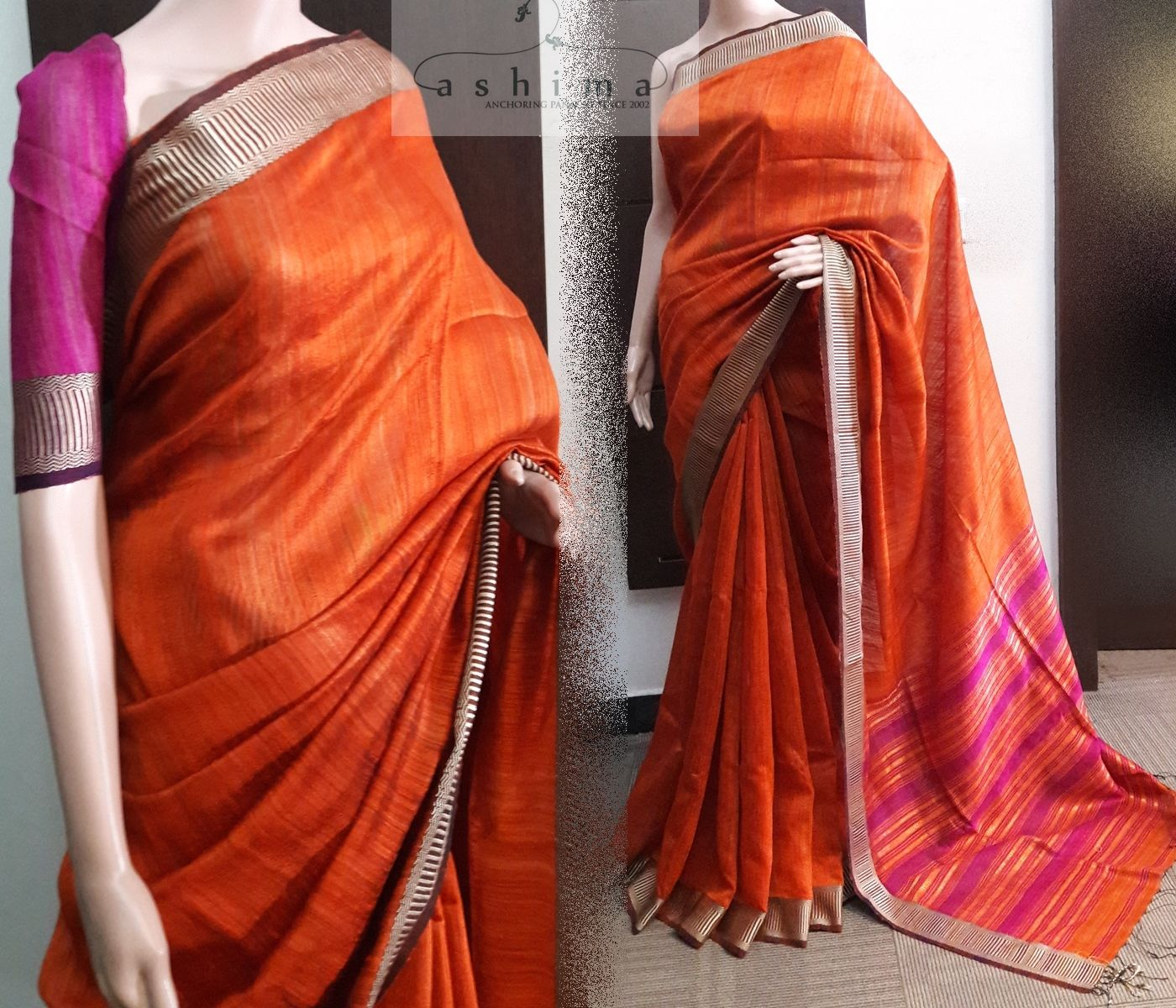 Code price inr linen saree with woven border and