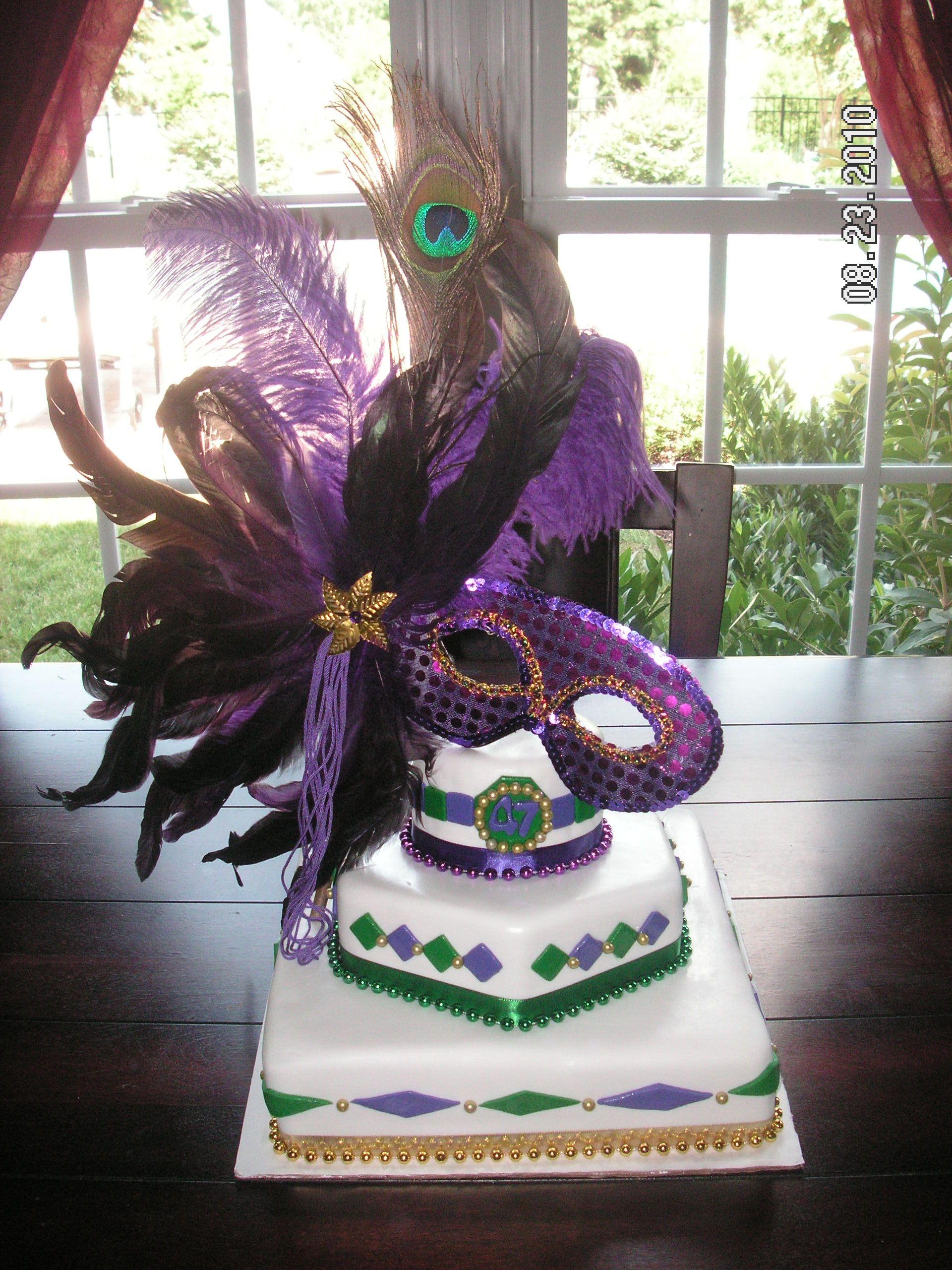 Mardi Gras Cake My Cakes Masquerade Cakes Mardi Gras