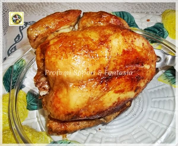 pollo intero arrosto al forno dorato e croccante ricetta facile