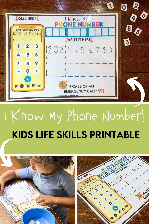 Learn My Phone Number Worksheet Phone Number Practice Phone Number Activity Kindergarten Kids Learning Games Preschool Homeschool How To Memorize Things Learning Printables Phone Numbers [ 1500 x 1000 Pixel ]