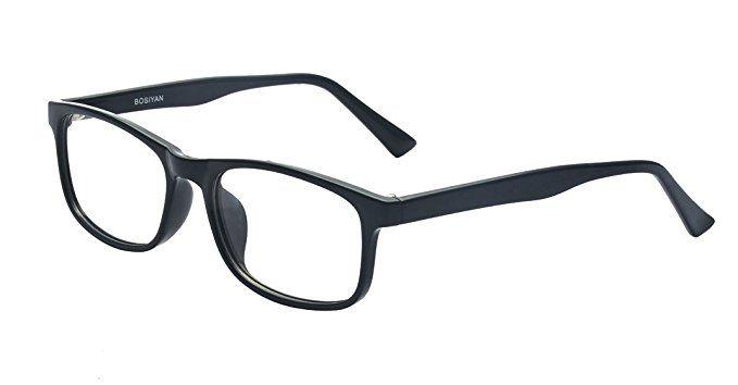 4193af74ba6 Kelens Retro Fashion Horned Rim Rectangular Frame Clear Lens Prescription  Eye Glasses Review