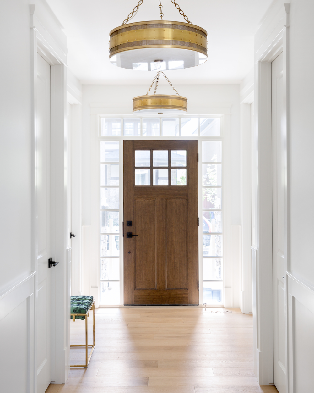 Entryway With Brass Hudson Valley Gaines Pendants Calgary Interior Design By Reena Sotropa Home Online Home Decor Stores Home Decor