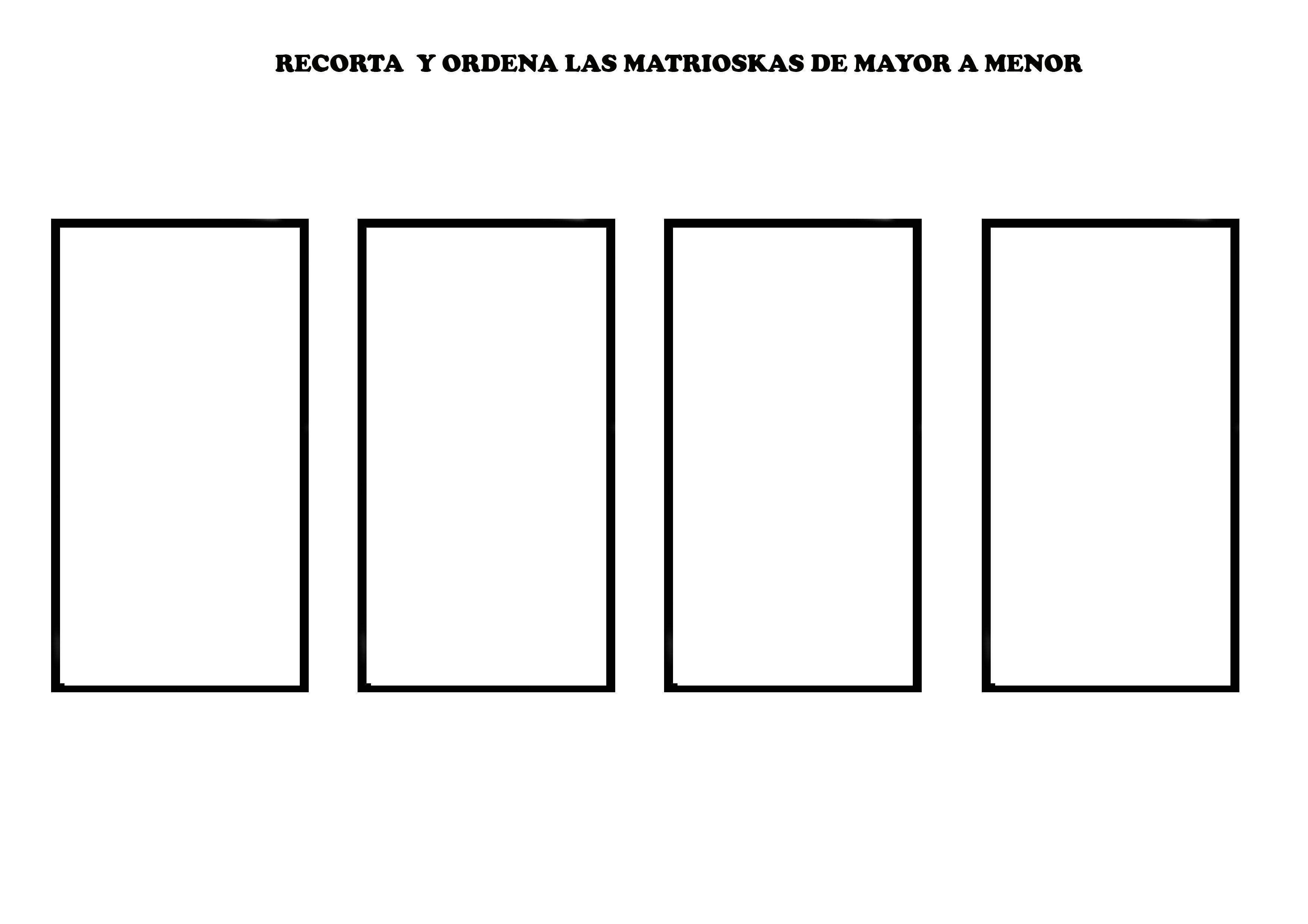BASE FICHA MATRIOSKAS | Matrioskas, Fichas, Interculturalidad