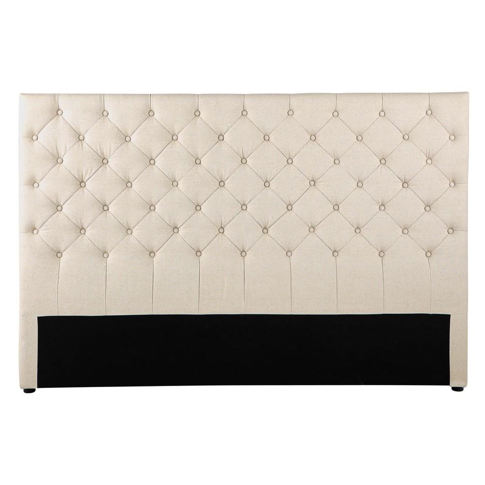 gestepptes bett kopfteil im vintage stil aus leinen b 180 cm kopfteile vintage stil und leinen. Black Bedroom Furniture Sets. Home Design Ideas