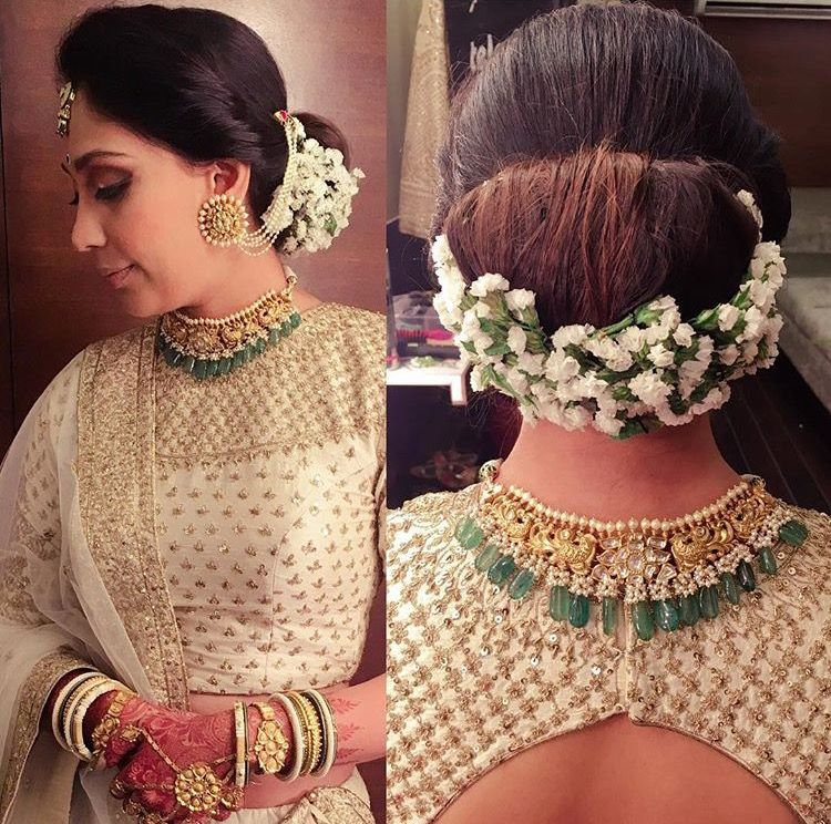 20 Wedding Hairstyles With Flowers: Indian Wedding Hairstyles, Bridal