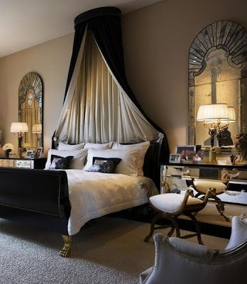 Luxury In Black Sophisticated Bedroom Bedroom Interior Glamourous Bedroom