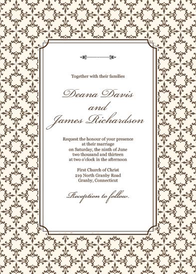free pdf download stately frame invitation template with matching
