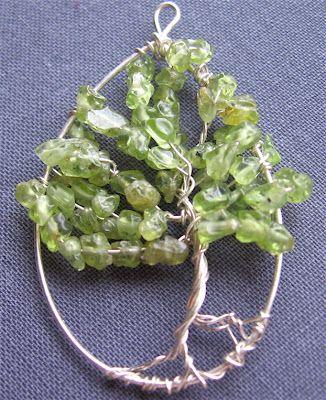Wire and Peridot - Organic