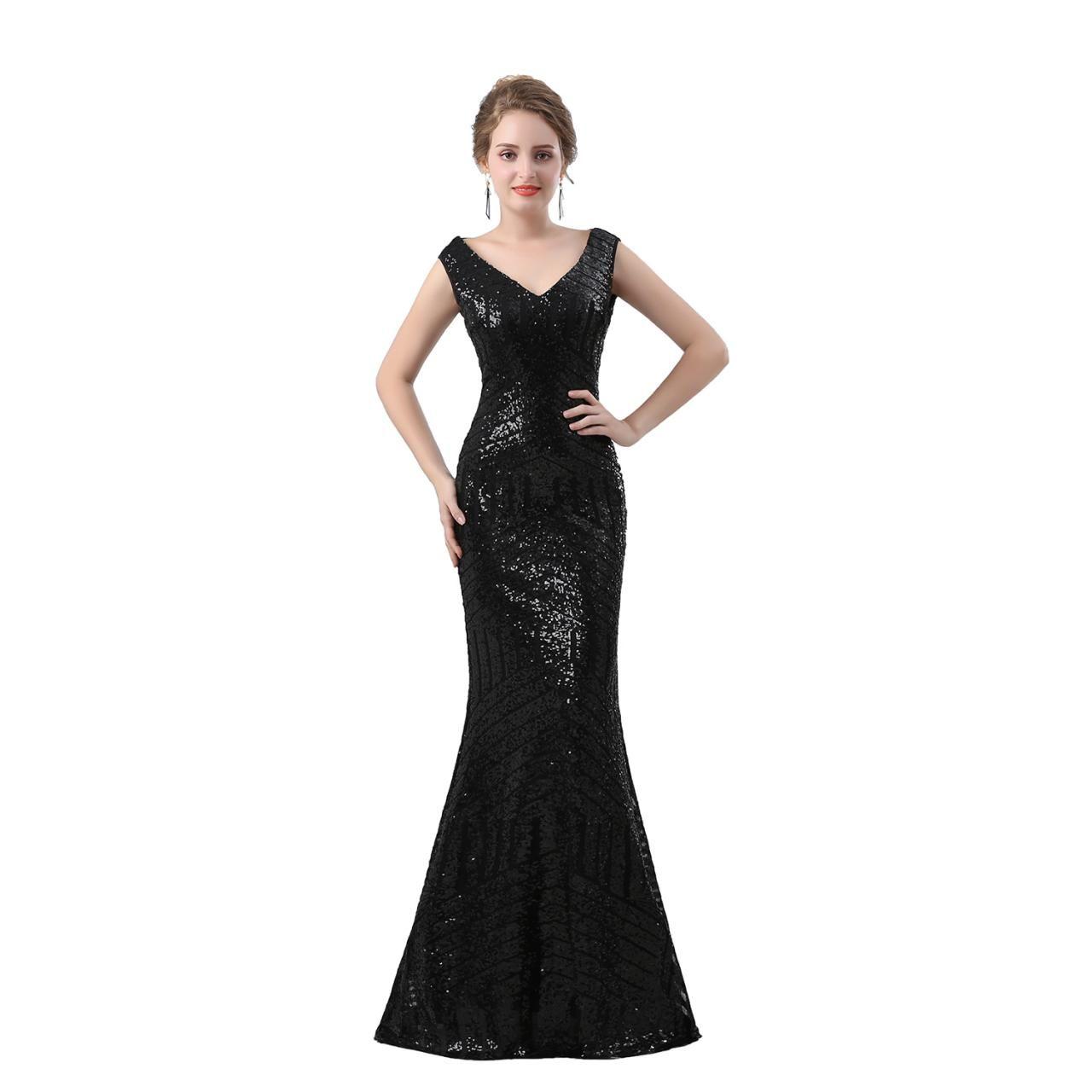 Black prom dressmermaid prom dresseslong elegant prom dresssexy