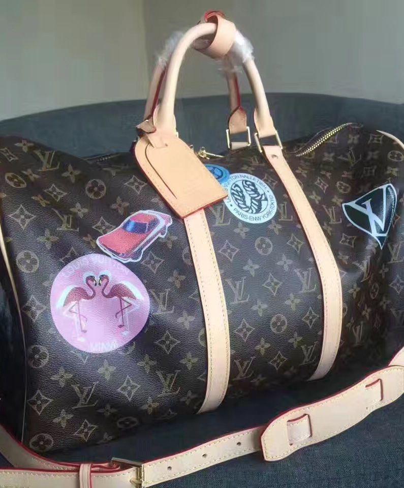 Louis  Vuitton  Monogram Speedy 45 Handbag with Sticker For Fashion Women ee0b2c92067
