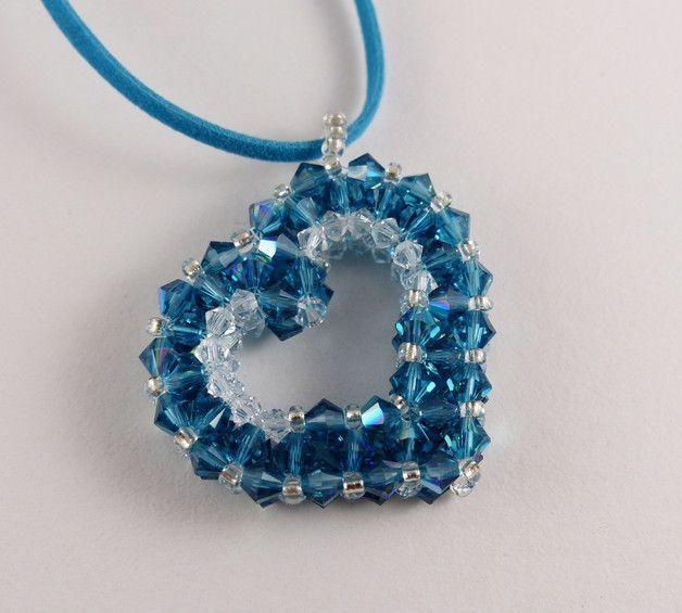 """Herzanhänger - Anhänger """" Crystal Heart"""" - ein Designerstück von Sabine-Amina bei DaWanda"""
