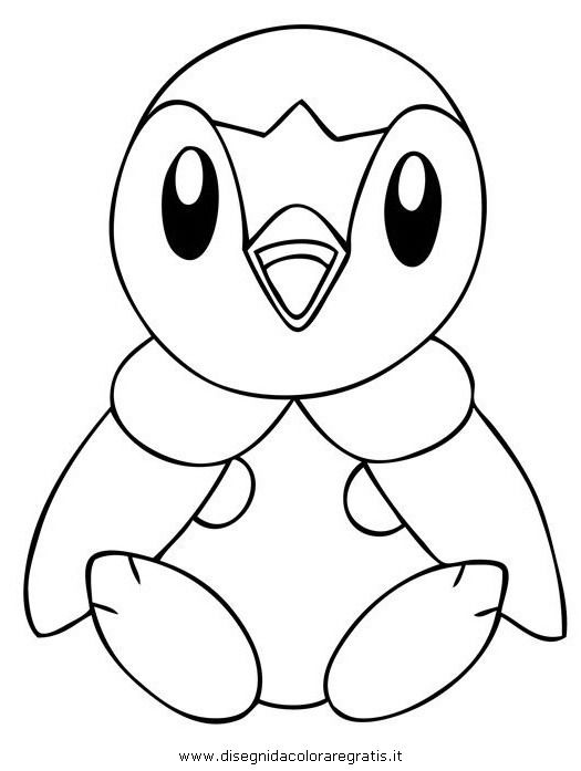 Piplup Pokemon 2 Jpg 525 697 Pixels Pokemon Coloring Pages