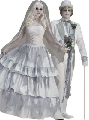 058e8960e0bb Victorian Ghost Bride and Groom Couples Costumes