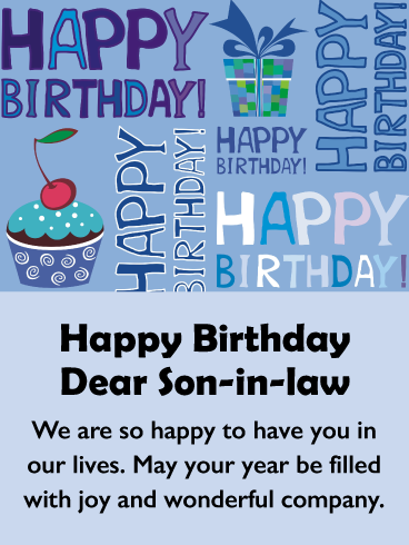 Part Of The Family Happy Birthday Card For Son In Law Birthday Greeting Cards By Davia Birthday Cards For Son Happy Birthday Son Birthday Wishes For Son