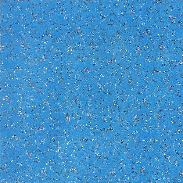 Sheer Blue Glitter Swirl 12x12 Paper