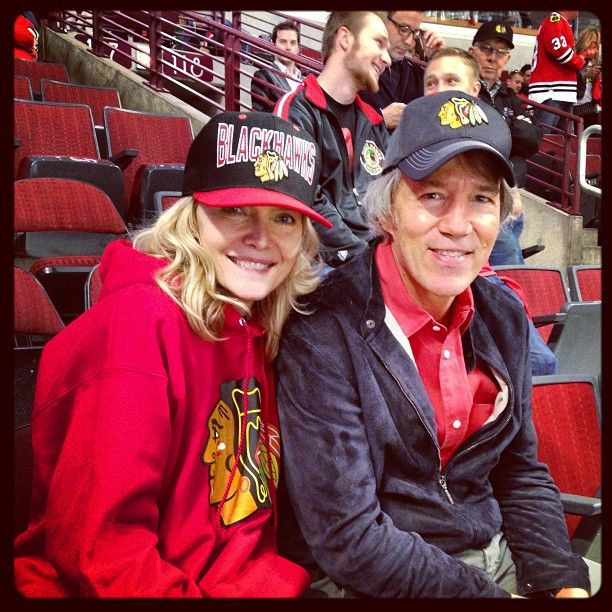 michelle pfeiffer amp david e kelley at game 5 of the 2013