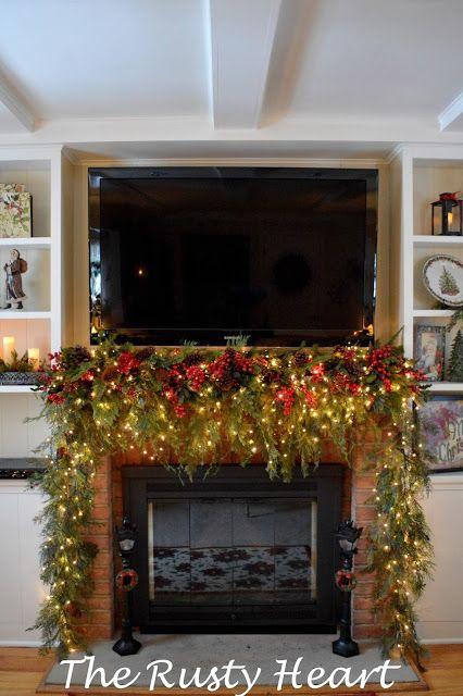 Beautiful Christmas Mantel Deck the Halls Pinterest Christmas