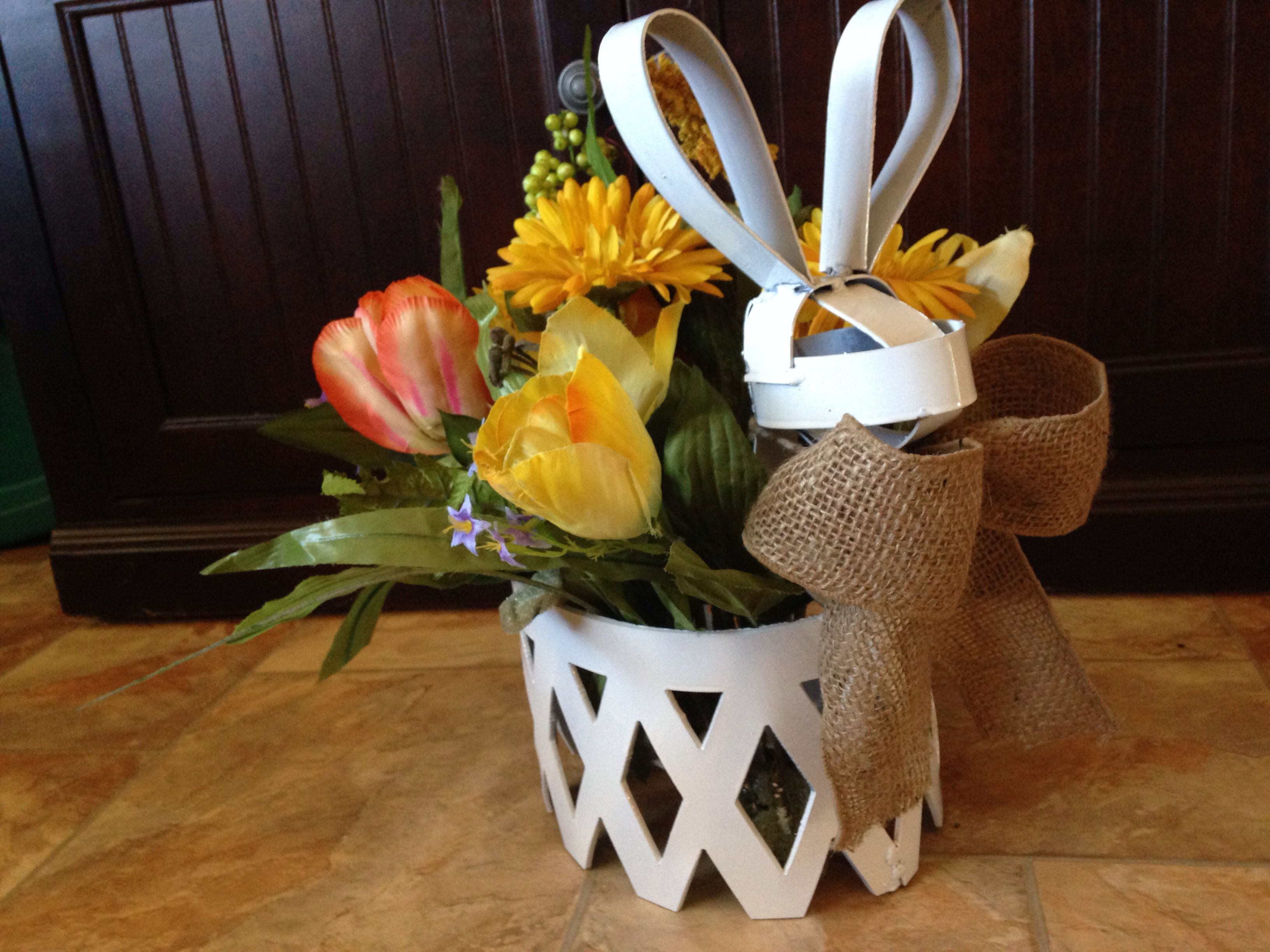Bunny Basket $60 (without flowers)  http://www.facebook.com/SamMetalArt