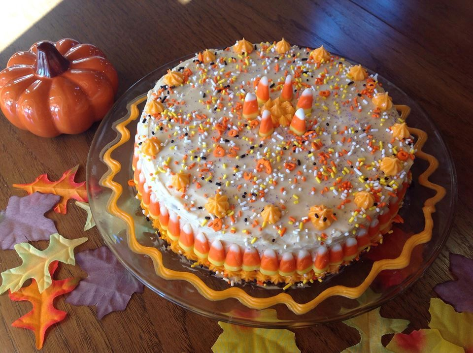 Carrot Cake with Pumpkin Cream Cheese Icing