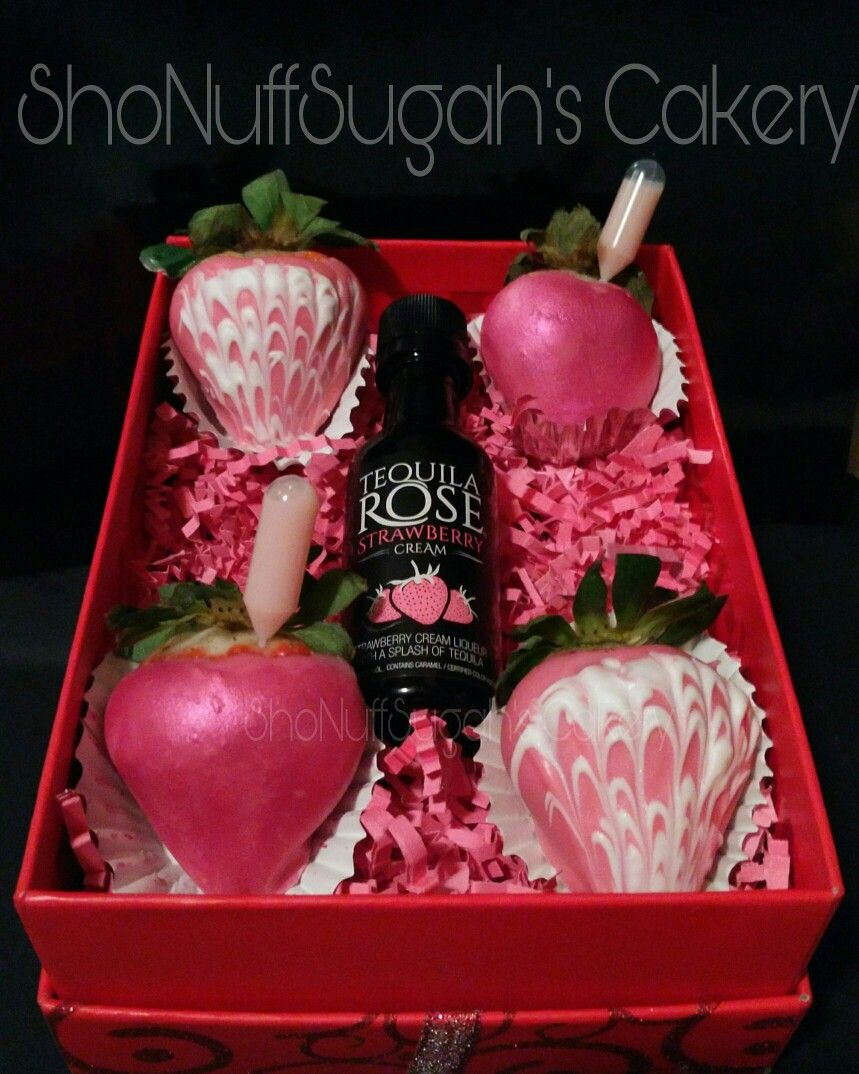 Tequila Rose Infused Strawberries By Shonuffsugah S Cakery Shonuffsugah Valentine Strawberries Pink Tequila Rose Valentine Strawberries Strawberry Gifts