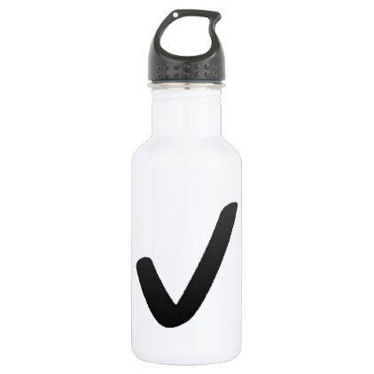 black check mark emoji water bottle emoji and water bottles