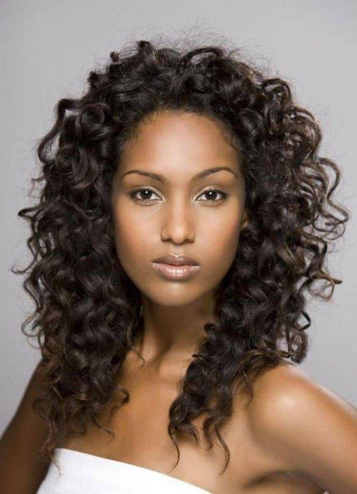 Natural Curly Long Layers