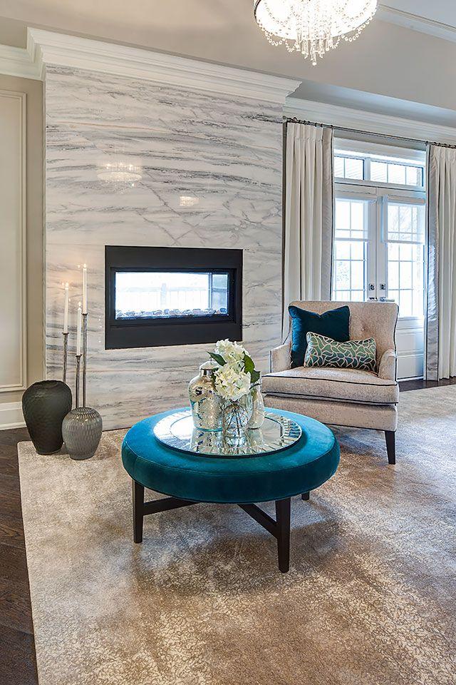 Copperwood Kleinburg Model Home Living Room Designs Fireplace