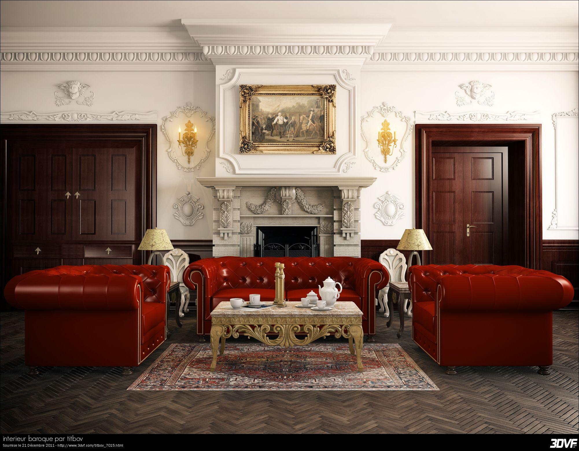 Galerie 16DVF.com : interieur baroque par titbov  Rouge chambre